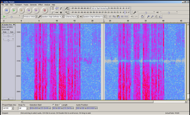 Spectrogram of ''audac-forum'', Before-After notch 3100Hz q=50.png