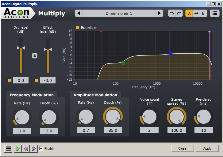 Acon Multiply VST plugin in Audacity 2-1-3 in Windows Vista.png