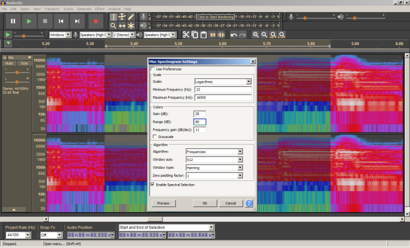 In ''Dark''theme, spectrogram settings is in 'light''theme X¬( .png