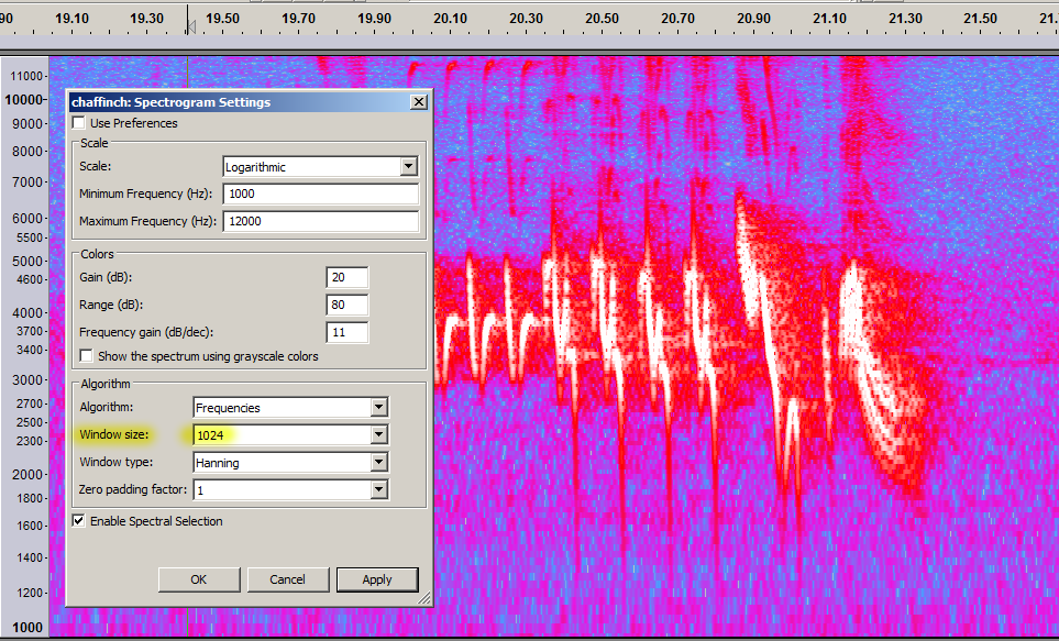 Chaffinch & suggested spectrogram settings.png