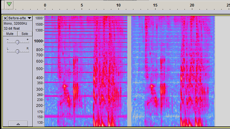 Audacity spectrogram, Before-after notches .png