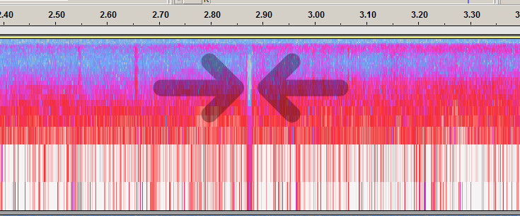 drop-out is gap in spectrogram (spectrogram window size changed to 64).png